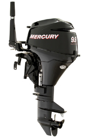 Mercury Marine's 9.9 horsepower four stroke small outboard motor.