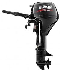 Suzuki Marine's 9.9 horsepower four stroke small outboard motor.